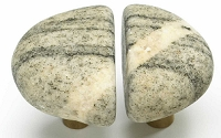 Schaub Michigan Naturals Medium Pair Rock Knobs - Winter Morning (53-WM)